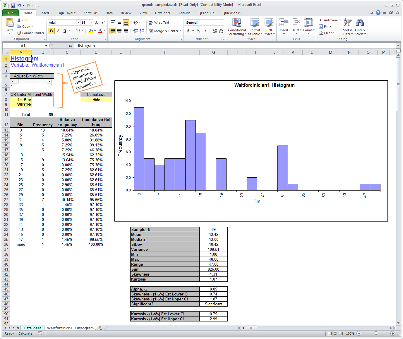 free trial - qetools six sigma excel add-in